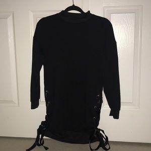 BNWT Black Side Tie Dress